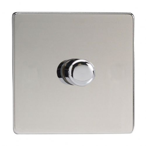 Varilight JDCP401S Screwless Polished Chrome 1 Gang 2-Way Push-On/Off LED Dimmer 0-120W V-Pro